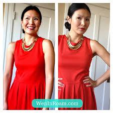 gold necklace dress images Red dress wen in roam jpg
