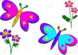 peaceful butterflies and flowers royalty free cliparts vectors and