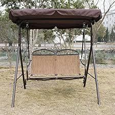 hammock bench amazon com walcut outdoor porch swing canopy hammock swing chair