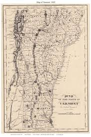 Map Of Vt Prints Of Old Vermont State Maps