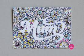 Doodle Birthday Card Birthday Card For My Mum Check Out The Speed Drawing Www Flickr