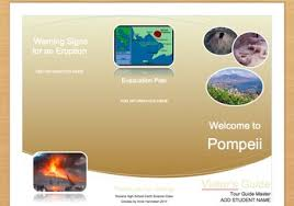 evacuation plan for pompeii u0027s welcome brochure template by