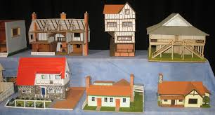 card model tudor house house and home design