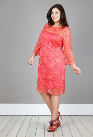 coral lace dress dressed up