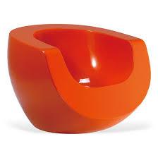 Orange Armchair Moon Retro Armchair