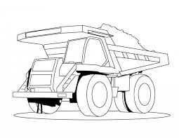 semi truck coloring page kids coloring