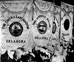 Flag Of Oklahoma Native Americans From Oklahoma Visited Alabama On 1st Flag Day In