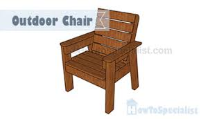 how to build an outdoor chair howtospecialist how to build