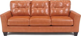Brown Faux Leather Sofa Faux Leather Orange Fabrizio Design Stylish But