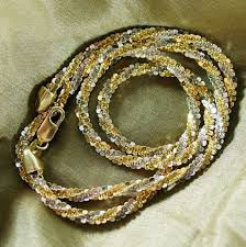 tone gold necklace images 12 50 sparkling grams of 14k wg yg necklace 17 quot long with the jpg