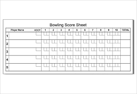 bowling score sheet template sample hockey score sheet sample