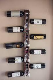 creative handmade horizontal wine rack design comes with vertical