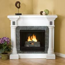 decorations electric corner fireplace design with grey tile and