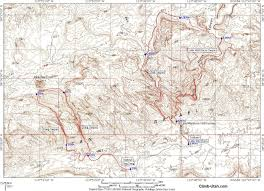 Escalante Utah Map by Ding U0026 Dang Canyons San Rafael Swell