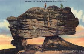 balanced rock lookout mountain rock city gardens tn