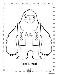 nod printable coloring pages winter yeti honest to nod