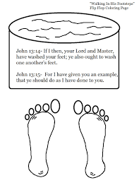 jesus washing feet coloring page printable pictures 8499