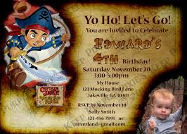 jake and the neverland pirates invite captain jake and the never land pirates birthday party