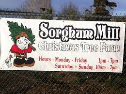 sorghum mill christmas tree farm in edmond