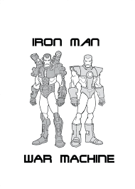 coloring pages war machine coloring pages pictures iron man war