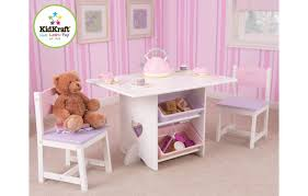 table chaise fille table et 2 chaises pour fille en bois avec rangements