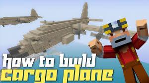 minecraft xbox 360 how to build a cargo plane youtube