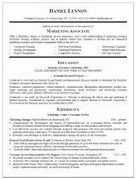 advertising resume example sample marketing re saneme