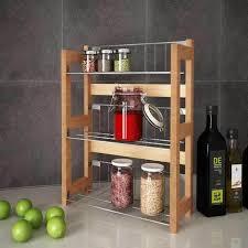 mensola portaspezie mensola cucina portaspezie cibo 33x42cm 3 ripiani in legno di