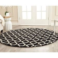 Black Round Area Rugs by Safavieh Cambridge Ivory Gold 6 Ft X 6 Ft Round Area Rug Cam134u