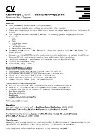 Sample Resume For Musician by Music Recording Engineer Sample Resume Resume Cv Cover Letter