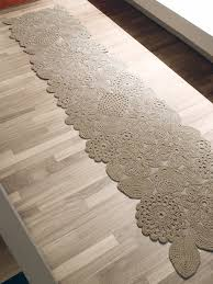 handmade crochet rugs available in customizable size and color