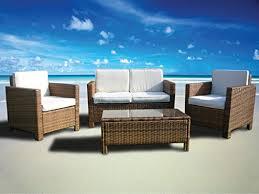 Rattan Wicker Patio Furniture The Miami Beach Collection 4 Pc Rattan Wicker Sofa