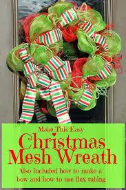 christmas mesh ribbon make a christmas mesh wreath miss kopy