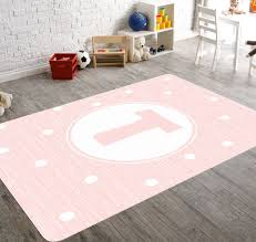 Large Kids Rug by Pink Nursery Rug Monogram Rug Personalized Rug Girl Nursery