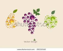 editable fruit fruit logo vector illustration graphic design stock vector