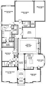 Luxury One Story House Plans by Simple 3 Bedroom House Floor Plans Single Story Flat Plan On Half