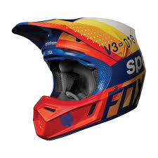 orange motocross helmet dirtbikebitz 2018 fox v3 draftr mx motocross helmet blue fox