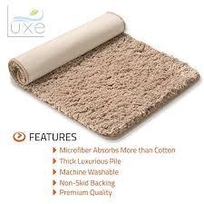 Bathroom Rugs With Non Skid Backing Luxe Bath Mat Bath Rug Non Slip Backing Microfiber Microdry Bath Mat 1