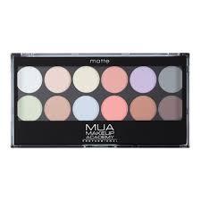 Makeup Mua mua 12 shade eyeshadow palette soft focus mua makeup academy