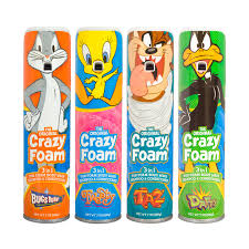 crazy foam looney tunes 4 pack bugs bunny tweety bird tasmanian