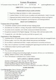 Customer Service Representative Resume Sample by Resume Examples 10 Perfect Simple Detailed Effective Edit