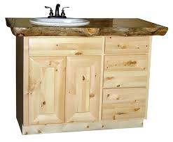 Pine Bathroom Storage Entranching Knotty Pine Vanity Bathroom 2 This Is A 48 Of