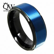 blue tungsten rings images 2018 queenwish promise ring 8mm black blue tungsten ring jpg