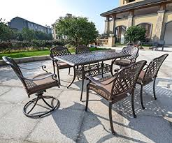 Outdoor Patio Table And Chairs Domi Outdoor Living Rainier Cast Aluminum Outdoor
