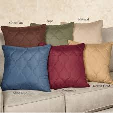 paramount solid color quilted accent pillows