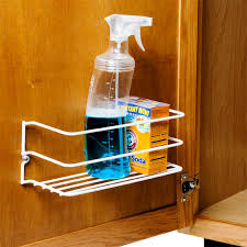 kitchen cabinet door organizers cleanser rack the container store