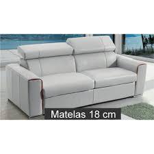 canape matelas canapé lit rapido en cuir avec matelas 18 cm verysofa renoir