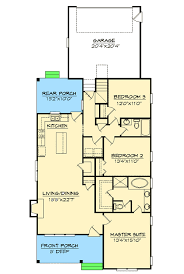 house plans for narrow lots extraordinary design ranch house plans for a narrow lot 9 plan