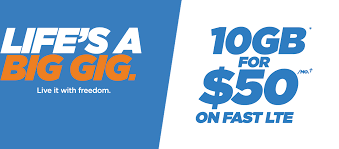 freedom mobile talk text data plans cell phones smartphones life s a big gig live it with freedom 10 gb for 50 month