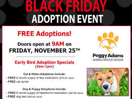 black friday pet adoption peggy adams animal rescue offers black friday adoption deals